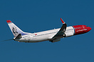 Norwegian Air Shuttle Boeing 737-800 LN-DYD displaying portrait of fam...