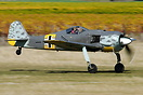 Frank Parker takes off for test flight in the Fw 190 on practice day, ...