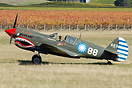 Curtiss P-40E Warhawk ZK-RMH taxi for take off at Classic Fighters 201...