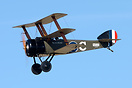 Sopwith Triplane ZK-SOP 'Black Maria' flying display at Classic Fighte...