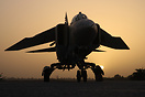 MiG-23MLD 6461 on the 1023 Sqn flight line at sunset