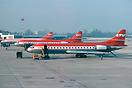 On a frosty winter morning, SAT Caravelle D-ABAW in basic LTU colours ...