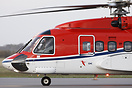 Sikorsky S92 from CHC ready for departing from Esbjerg to the Danish o...