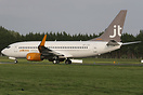 Jet Time Boeing 737-7Q8, OY-JTY,had it's winglets fitted at Shannon. S...