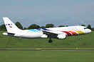 This is Tor Air's only A320 and is leased from Balkan Holidays (BH Air...