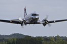 Dakota Norway's DC-3 making a spectacular low-pass over Sindal Airport