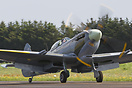 BILTEMA's Spitfire Mk. XVI taxiing to the apron at Sindal Airport