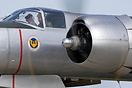 Close up view of the Scandinavian Historic Flight Douglas A-26 Invader...