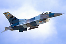 A Flanker scheme USAF Aggressor blasts away from Nellis at the start o...