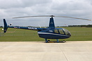 Sloane Helicopters Robinson R-66 Turbine N66UK seen during AeroExpo UK...