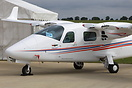 Airways Flying Club Tecnam P2006T G-ZOOG being displayed at AeroExpo U...