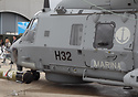 The Italian Navy's first NH90 naval helicopter, on display at the 2011...