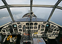 Cockpit view of the only airworthy Junkers Ju-52 (historic registratio...