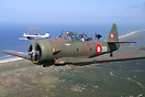 After years of restoration, this Harvard trainer from 1943 took to the...