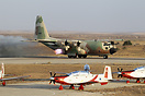 C-130H Hercules departs with JATOS at the Israeli Air Force flight aca...