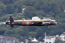 The Lancaster performs a display over Lake Windermere as part of the B...