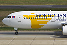 Mongolian Airlines Boeing 767 arriving from Ulan Baator, Mongolia to B...