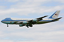 Air Force One arrives at London Heathrow carrying George W. Bush the 4...