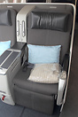 Business Class seat on this British Airways single class Airbus A318 w...
