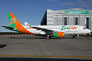 This former Lotus Air Airbus A320 awaits delivery for Zest Air of the ...