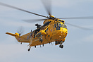 RAF Search and Rescue Sea King performing at Duxford Air Show