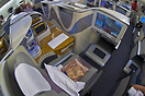 Businessclass booth with all comfort and luxery one could wish for. Se...