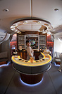 The bar in the business-class area of the A380.