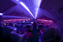 View of the business-class section of the A380. During the change of l...