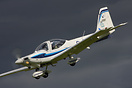 Grob Tutor G-BYWT seen here doing a steep descent to the RAF Leeming r...