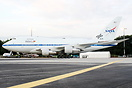 Appearing for the first time outside the USA, the NASA/DLR Boeing 747S...