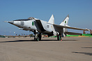 MiG-25RB 499 kept in good condition for static display purposes at Mit...