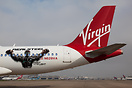 "Virgin America ""Real Steel"" Plane. Hollywood star Hugh Jackman unveile..."