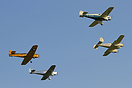 Four different types of Miles aircraft seen here in formation at the O...