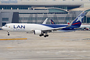 LAN Cargo landing at Miami airport