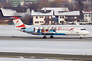 Austrian Airlines Fokker 100 with Ski World Cup special colors