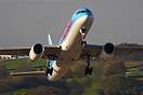 Thomson Airways Boeing 757 G-OOBP seen here Climbing out of Leeds Brad...