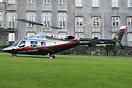 Bell 222 EI-ZZ at Dromoland Castle. Operated by Executive Helicopters,...