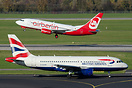 a British Airways Airbus A319-100 seen together with - future - One Wo...