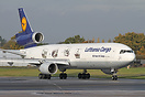 This Lufthansa Cargo MD-11 Freighter wears special '100 Years Air Carg...