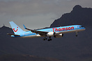G-OOBG Seen here on finals with the dramatic Volcanic backdrop of Tene...