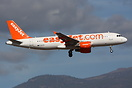 Easyjet Airbus A320 G-EZTR seen here on finals to Tenerife South with ...