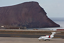D-BTEN seen here overnight stopping at Tenerife South Airport with the...