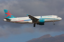 First Choice Airbus A320 G-OOAR seen here on finals to Tenerife Island