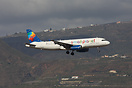 Small Planet Airlines Airbus A320 SP-HAB seen here on finals passing t...