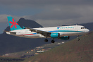 First Choice Airbus A320 G-OOPT seen here on finals to Tenerife South ...