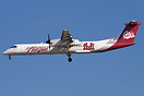 Horizon Q400 in Griz special colors landing at LAX