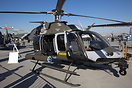 Bell 407 Light Observation Helicopter on display at the Dubai Airshow ...