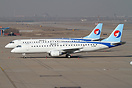 The first two Embraer ERJ-190 aircraft for  Hebei Airlines.