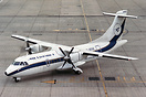 Air Littoral ATR42 F-GEGD seen taxying to stand on one engine