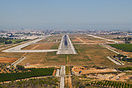Final for runway 12 at Valencia Airport, Spain
